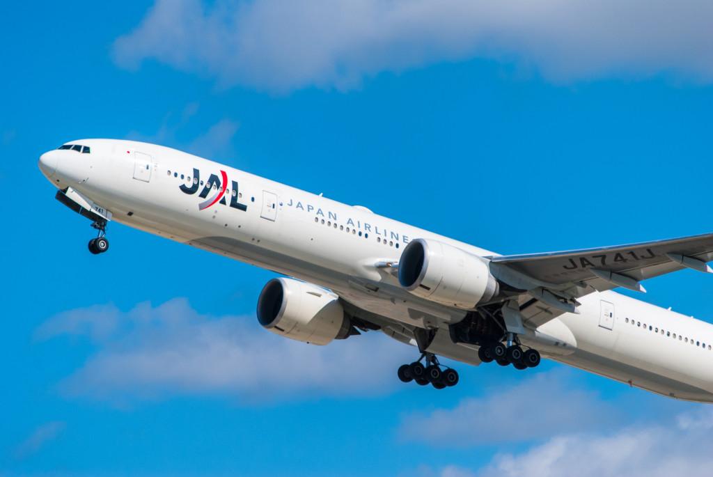 JAL 9 departs for Tokyo.