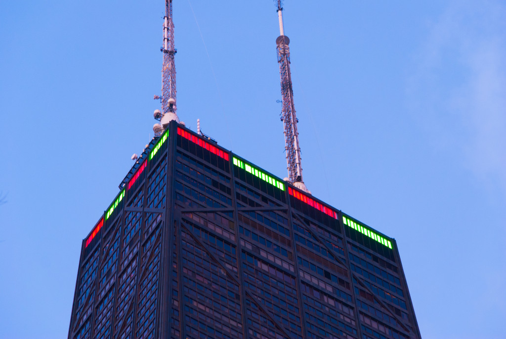 The Hancock Center, Chicago's fourth tallest building.